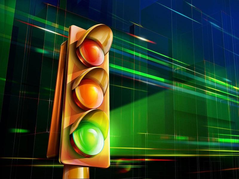 В Астане модернизировали светофор свечением на опорах